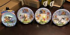 (4) Different Bradford Winnie The Pooh 3D Plates (Hundred Acre Happiness) L.E.