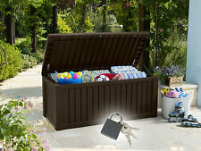 570 Liter Gartentruhe Jumbo XXL Gartenbox Auflagenbox Kissenbox Kunststoffbox