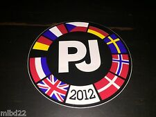 PEARL JAM - Europe 2012 tour Sticker - WOW backspacer tour