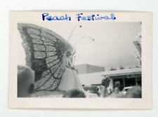 Lady in butterfly float costume - Peach Festival   Vintage Snapshot photo