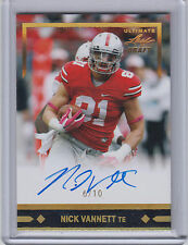 NICK VANNETT 2016 Leaf Ultimate Draft 1991 AUTO Gold Spectrum #/10 Seahawks