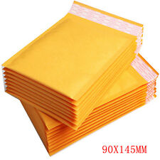 1000 Padded MAIL Brown Yellow Postage Bag Bubble Lined Envelope 90mmX145mm