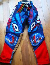 "ONeal Hardwear Racing Motocross Pantaloni Pants Navy Blu e Bianco Taglia 34"""