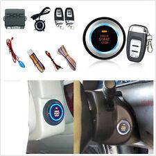 One Key Start C3 Car Alarm System Ignition Engine Starter Push Button Remote 12V