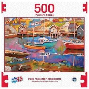 SURE LOX 500 PIECE PUZZLERS CHOICE PEGGYS COVE  48.26CM x 33.02CM