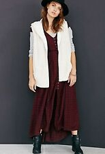 Urban Outfitters Ecote Wilding Oversize Hooded Vest Jacket Ivory M Retails$79.00