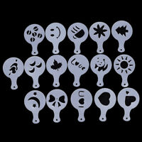 16 Pc Milk Cake Cappuccino Cupcake Stencil Template Mold Cookie Coffee Latte Set