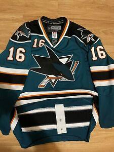 San Jose Sharks Reebok EDGE Authentic Devin Setoguchi NHL Hockey Jersey Teal 56