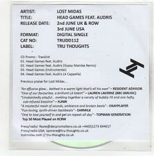 (FN579) Lost Midas Feat. Audris, Head Games - 2014 DJ CD