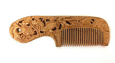 Gold fish WOOD CARVED COMB