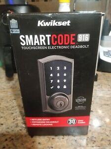 Kwikset 99160-017-R SmartCode 916 Touchscreen Deadbolt in Venetian Bronze