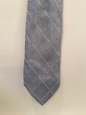 D&G Dolce And Gabbana 100% Authentic Light  Blue Tie Men's Vintage Rare! Italy