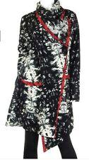 ART OF CLOTH New LOLITA Coat NWT Black & White Long Jacket WOOL Blend Medium M