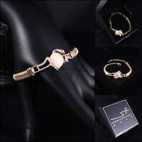 Armband Armschmuck Bracelet *Schlange* Rosegold pl., Swarovski Elements, +Etui