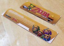 Nintendo Game Boy Advance AGB-001 LEGEND OF ZELDA CONSOLE LABEL BAR CODE Bundle