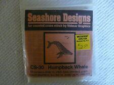 Seashore Designs Vidmar Graphic  Humpback Whale mini Counted Cross Stitch Kit