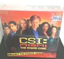 CSI Miami The Board Game 2005 UNPLAYED & Complete Age 13 Crime Solving Game