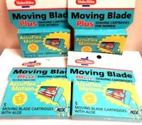 Nos Vintage USA Made Value Rite Moving Blades Cartridges Aloe Shaving Snap Razor