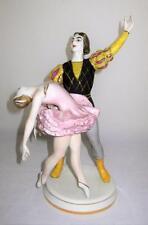 "Russian, Kiev EKHZ, K BC, Porcelain Figurine, ADAGIO BALLET, Dancers, 10 3/4"""