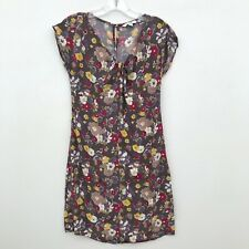 Boden Tunic Mini Shift Floral Dress Purple - Womens Size 4 US