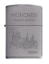 ZIPPO Benzin Feuerzeug München Weltstadt mit Herz Bayern NEU OVP