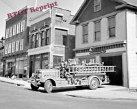Photograph Southington's Connecticut Fire Engine  Year 1942 8x10