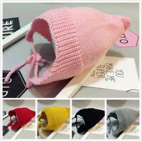 Kids Girl&boy Baby Toddler Winter Warm Ear Protector Wool Cap Slouchy Hats WL