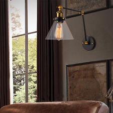 Swing Arm Wall Light Glass Wall Lamp Bedroom Indoor Wall Sconce Kitchen Lighting