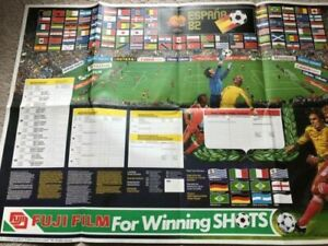 World Cup 1982 Spain WALL CHART poster - NO WRITING