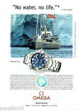 PUBLICITE ADVERTISING 056  2001   Omega  montre  seamaster 300m Sir Peter Blake