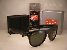 Ray Ban Folding Wayfarer Matte Black w G-15 Lens (RB4105 601S 54)