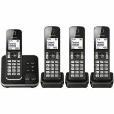 Panasonic KXTGD324ALB Digital Cordless Phone with Answering Machine - 4 Handset