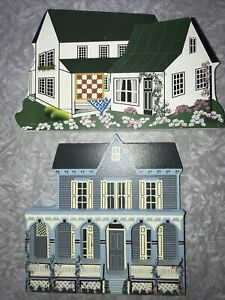 Shelia Collectible Houses Amish Home 1993, Victorian Rose 1992
