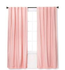"""Pillowfort Twill Pink Blackout Window Curtain Panel 63"""" L x 42 in W (1 count)"""