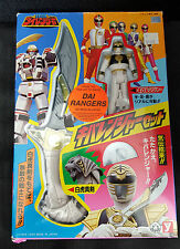 1993 Yutaka Japan DAI Power Rangers Tiger Sword & White Ranger Action Figure
