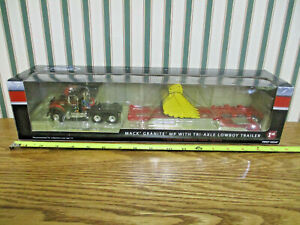 J&A Trucking Mack Granite MP Truck With Trailer & Mining Bucket By First Gear