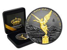 1 oz argent Mexico 2018 Libertad Plata Pura Gold Black EMPIRE EDITION