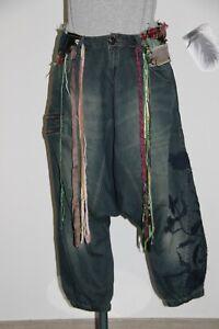 adorable sarouel jeans brodé DÉSIGUAL taille 34 fr PARFAIT ÉTAT