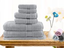 Brand New  Soft Touch 7 Piece 100% Cotton Bath Towel Set - Silver