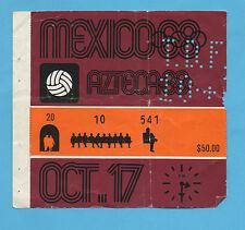 Orig.Ticket    Olympische Spiele MEXICO 1968  Fussball  MEXICO - GUINEA  !!  TOP