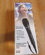 KARAOKE USA M187 Professional Dynamic Microphone