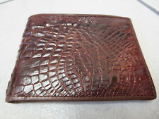 Genuine crocodile leather bifold wallet (wb12.13)