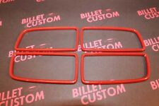 2010-2014 Chevrolet Camaro Billet Gauge Control Trim Rings Orange