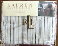 NIP-$142 RALPH LAUREN 'BLEECKER STREET' KING BED SKIRT IVORY/BLACK 100% COTTON