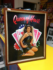 QUEEN OF HEARTS CARDS WOODEN SIGN NEW WALL HANGING READY TO HANG HEAVY ITEM