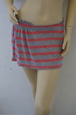TOPSHOP PINK GLITTER STRIPED STRETCH EASYWEAR MINI SKIRT SIZE 10 PETITE NEW FD