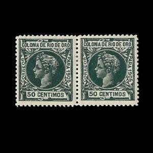 RÍO DE ORO.1905.Alfonso XIII.50c.CENTRADO.MH.Blq 2.Edifil 9