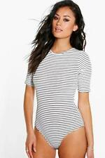 Women's Striped Polyester Short Sleeve Jumpsuits & Playsuits