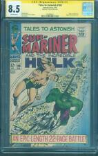 Tales to Astonish 100 CGC SS 8.5 Stan Lee Sign Hulk vs Sub Mariner 1968 Severin