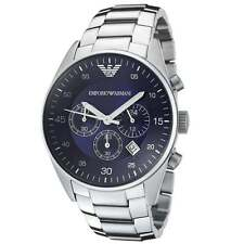 Emporio Armani AR5860 Classic Chronograph Blue Dial Stainless Steel Mens Watch